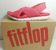 FIT FLOPS  Women's Red AIRMESH Back-Strap Sandals Size: uk 4,5,6,7,