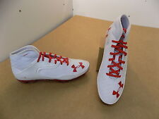 NEW Texas Tech Game Issued Under Armour Mid Football Cleats Shoes (white) / 13.5