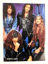 White Lion / Mike Tramp / Vito Bratta / Band Magazine Full Page Pinup Clipping