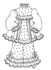 """Sewing Pattern fits 13-14"""" Doll Victorian German French Little Darling 698"""