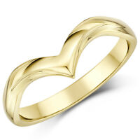 9ct Yellow Gold Wishbone Curved Shape Wedding Ring 2.5mm Band