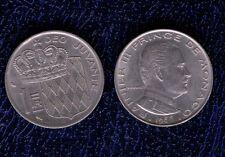 MONACO 1 FRANC 1966 q.SPL RAINIER III PRINCE DE RANIERI mrm