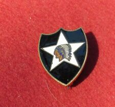 US Army 2nd  Infantry Division Pin Back D DAY  Famous Unit DI Patch