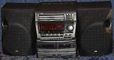 JVC MX-D4T 3 CD CHANGER Component SYSTEM Boombox AM/FM Tuner DUAL CASSETTE DECK