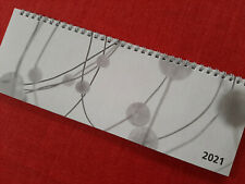 TISCHKALENDER 2021 - Querkalender ohne Werbung - NEU - Drahtbindung in silber