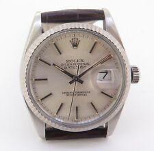 .Vintage 1983 Rolex Datejust 16014 Steel & White Gold Men's Watch - Serviced