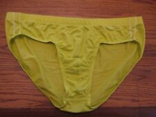 Evolve size large polyester blend no-show lime green low rise briefs NEW