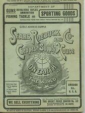 1900s SEARS ROEBUCK Vintage GUNS, FISHING TACKLE & SPORTING GOODS Catalogue  EX