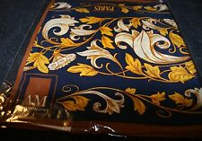 "New 100% Silk Scarf ""PARIS"" 10"" x 54"" Anne McAlpin Great Cities Collection Nice"
