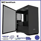 DarkFlash Gaming PC Computer Case Tempered Glass Micro-ATX Tower for 330mm GPU