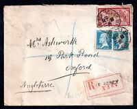 France 1925 Merson on registered cover Raincy to UK WS7352