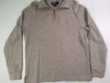 Polo Ralph Lauren 1/4 Zip Pullover Knit Sweater Men's Size M Medium Gray