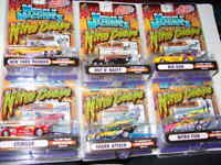 MUSCLE MACHINES 2003 SUPER CHEVY NITRO COUPE NHRA SET OF 6 -NEW IN PACKAGES