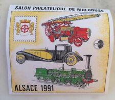 bloc cnep neuf salon philatélique Alsace 1991 91 Mulhouse
