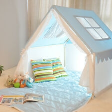 Blue 100% Cotton Kids Play House Tent Children Play Tent for Indoor