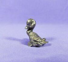 Pewter Figurine DUCK GOOSE Metal Miniature Bird Animal Farm Lake Vintage Metal