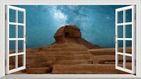 Great Sphynx of Giza Pyramids Magic Window Wall Art Self Adhesive Poster V3*
