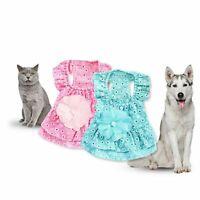Dog Skirt Pet Dress Princess Dress Dogs Dresses Cotton Sling Pet Cat Skirts D
