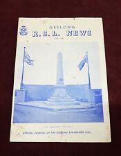 POST WW2 RSL NEWS GEELONG AUSTRALIA BOOK JUNE 1968