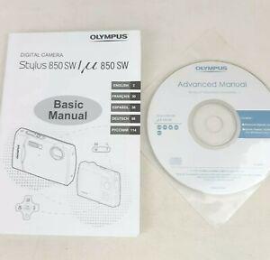 Olympus Stylus 850 SW & Mju 850 SW Official Manual & CD Rom Advanced Manual VGC