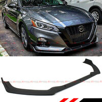 FOR 2019-2020 NISSAN ALTIMA JDM MATT BLACK FRONT BUMPER LIP SPOILER SPLITTER