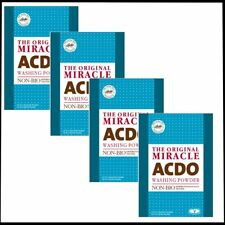 MIRACLE ACDO NON BIO WASHING MACHINE POWDER SENSITIVE SKIN TOUGH ON STAINS x 4