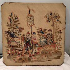 Antique Regency Chinoiserie Needlework  On Frame