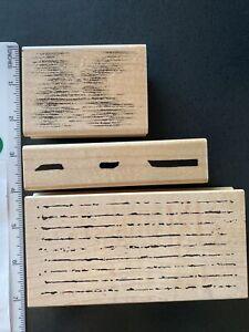 Broken & Shimmering Lines Rubber Stamps-Art Impressions, Stampscapes, JRL Design