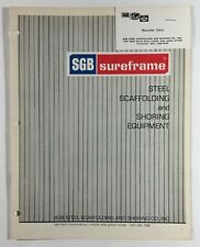 SGB Steel Scaffolding And Shoring Co Sureframe Vintage Equipment Brochure 1970s