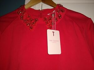 Red Tunic Ted Baker Dress. Perfect For Christmas. Brand New With Tags On. Size 4