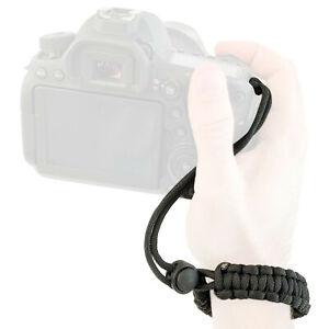 Lens-Aid Handschlaufe für Kamera: Paracord Wrist-Band Kameragurt für Handgelenk