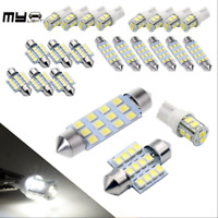 14x White LED Interior Package Kit For T10 36mm Map Dome License Plate Lights ok