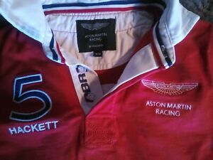 Boys Hackett Official Aston Martin Racing Rugby Sweatshirt Jumper 9-10