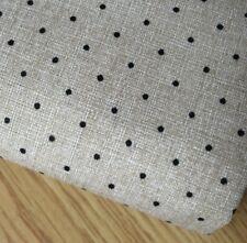 Shabby Chic Tiny black spots 100% Cotton Fabric. Price per 1/2 meter