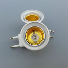 1x E27 Light Socket To EU Plug Holder Adapter Converter ON/OFF For Bulb Lamp