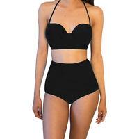 Women High Waist Bikini Set Push-up Padded Beach Swimsuit Bathing Suit Swimwear