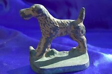 Antique Airedale Irish Terrier Wire fox terrier Iron bookend Lakeland terrier *