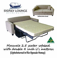 AUSTRALIAN MADE Mossvale 2.5 seater sofa bed with Double 4'' Innerspring
