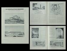 CONSTRUCTION MODERNE 1935 EXPOSITION BRUXELLES LACOSTE,COUVENT DOMINICAINS PARIS