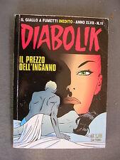 DIABOLIK ORIGINALE ANNO XLVII n° 11 - 2008 - RARO - OTTIMO