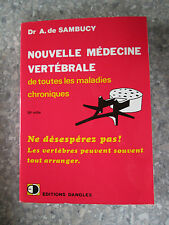 SAMBUCY Médecine vertébrale de toutes les maladies chroniques