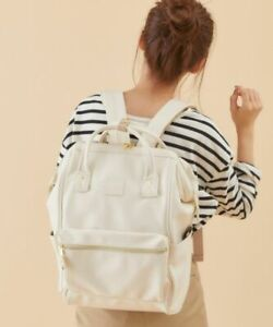 Anello Women Bag Retro Valve Backpack School Bag Student Unisex Faux Leather Bag
