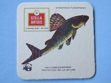 Beer Bar Pub Coaster: Stella Artois <> Suckermouth Catfish <> Protect Nature