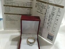 14k yellow gold and GIA certified diamond engagement ring 1.15ct