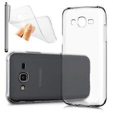 Housse Etui Coque Gel UltraSlim TRANSPARENT Pour Samsung Galaxy J5 + Stylet