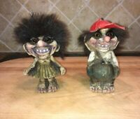 Original NyForm Norwegian Brother And Sister Trolls Set From The Norway Pavilion