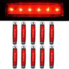 10 Pcs 6 LED Side Marker Lights Signal Lamps Fits Trick Lorry Scania Daf Man 24V