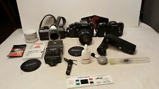 Nikon F3hp FE2 Nikkormat With 35-105 mm Lens LOT And Accesories Plus case