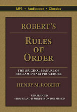 Robert's Rules of Order - Unabridged MP3 CD Audiobook in DVD  case