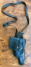 Old police leather holster f/ACP pistol type w/shoulder strap used in Argentine